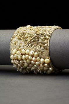 Golden Pearl Couture Cuff
