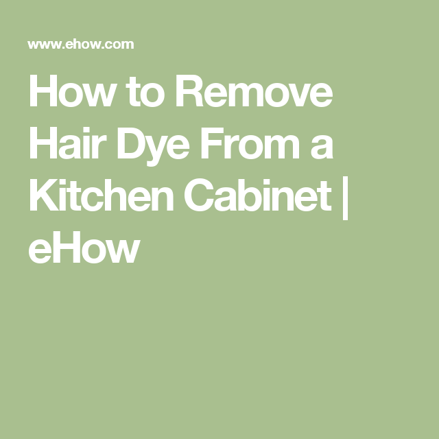 How To Remove Hair Dye From A Counter Ehow Hair Dye Removal Hair Color Remover Dark Hair Dye