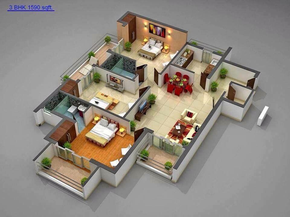 Pin Oleh Ahmad Hayajneh Creative Futur Di Designed Denah Rumah Desain Rumah Rumah