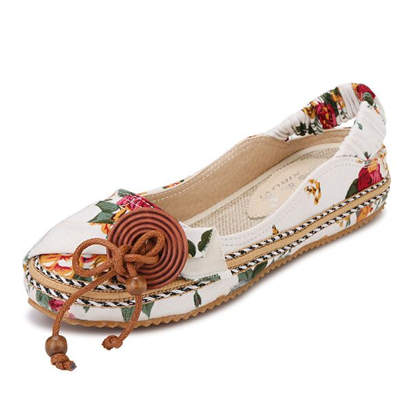 US Size 5-11 New Women Hand-made Embroidery Soft Casual Comfortable Flats Sandals Shoes