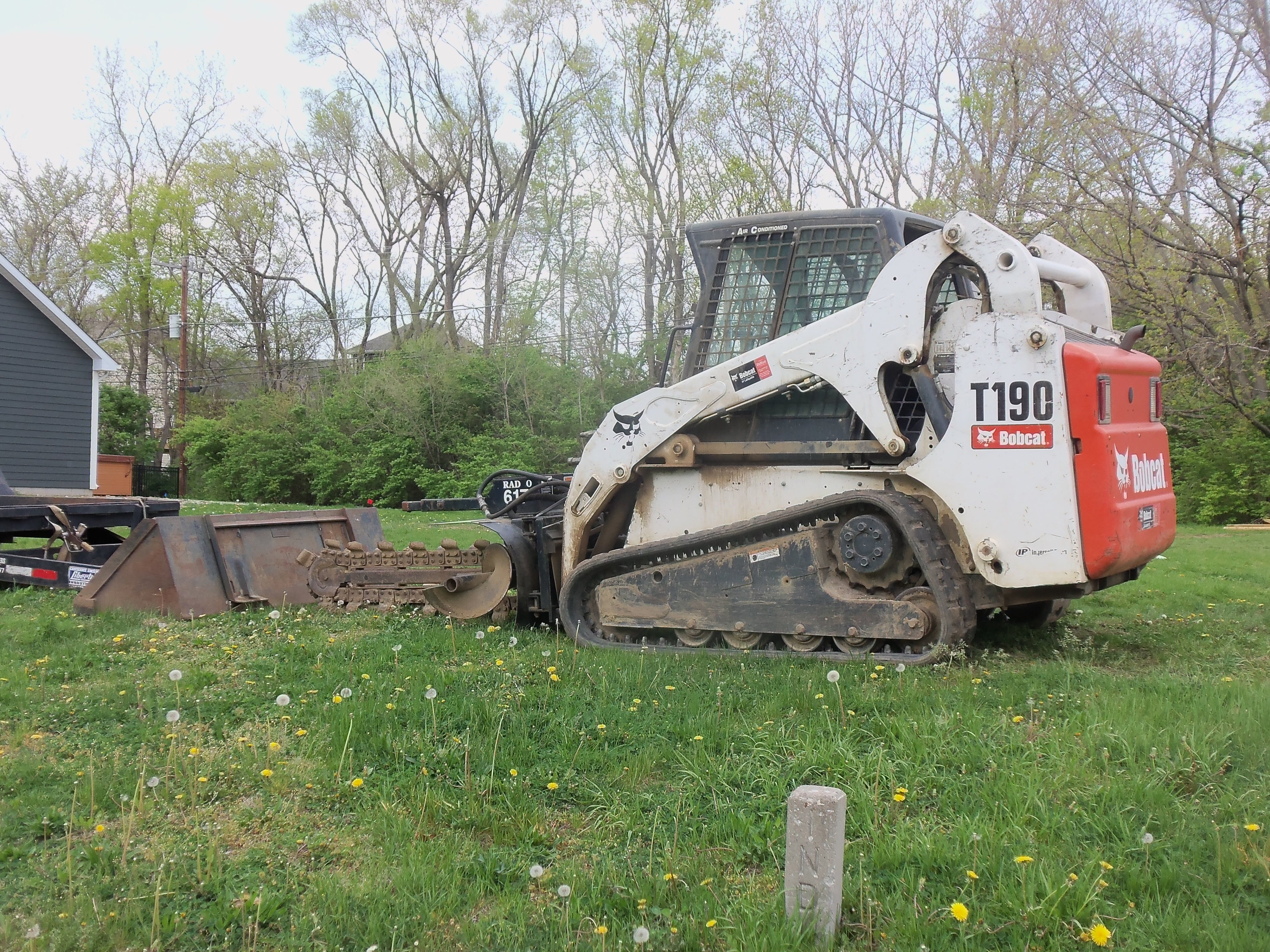 Bobcat T190 compact track loader with trencher