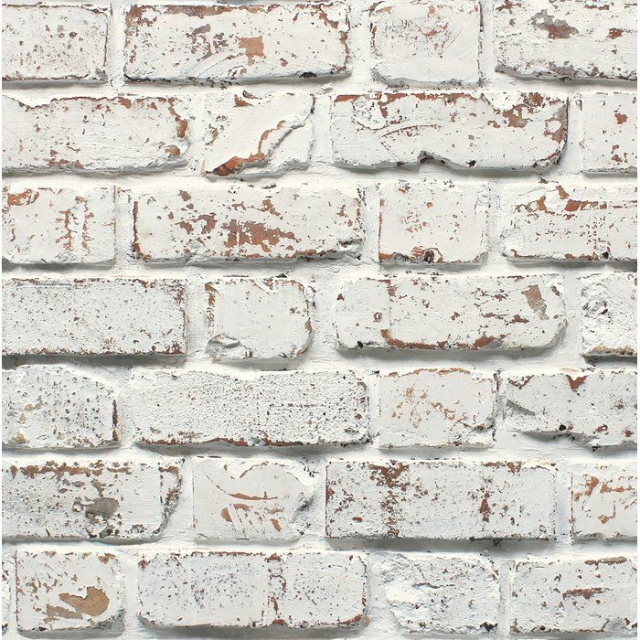 """Mccluney 33"""" L x 20.5"""" W Brick Wallpaper Roll (With images"""