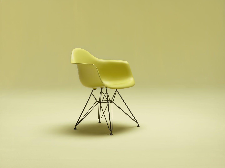 Vitra Dar Stoel : Vitra stoel eames plastic armchair dar gepoedercoat onderstel