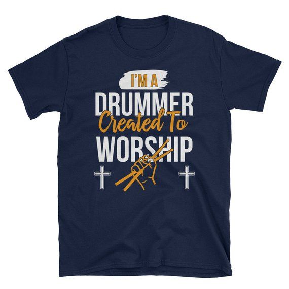 47e3ed87 Drummer Gifts- Drummer T Shirt-Drummer Gifts for men- Drummer Created To  Worship