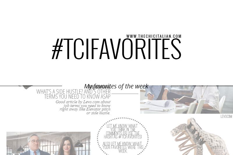 My favorites of the week with twenty something life tips from - intern job description
