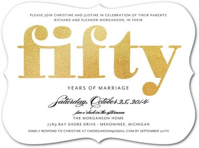 50th Wedding Anniversary Invitation Ideas: 50th Wedding Anniversary Ideas For Throwing A Memorable