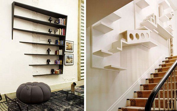 11 estanterías modernas y originales para inspirar tu decoración - fachadas originales