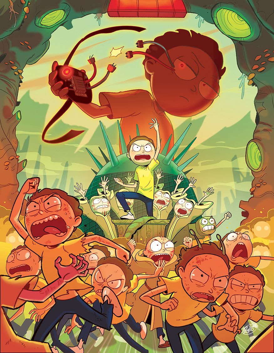 Goingdownmycase My Piece For The Rick And Morty Fanzine Mortys Mortys Everywhere Thanks For The Support Ever Rick I Morty Morty Smith Rick And Morty Poster