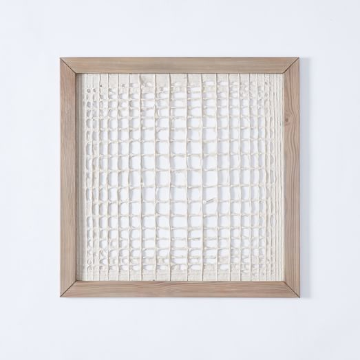 Lines Paper Framed Handmade Paper Wall Art  Overlapping Lines  Home Decor .