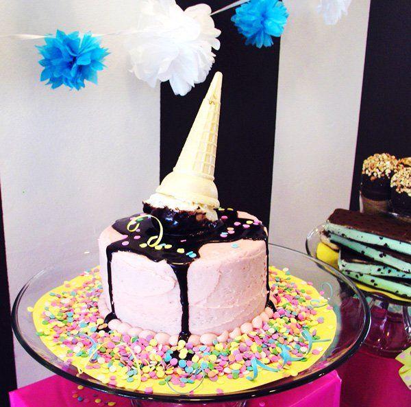 Adorable Ice Cream Cake