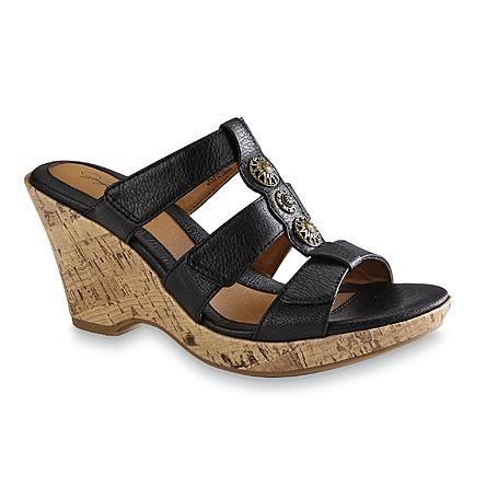 58286db30bea Jaclyn Smith Women s Trisha White Platform Wedge Sandal