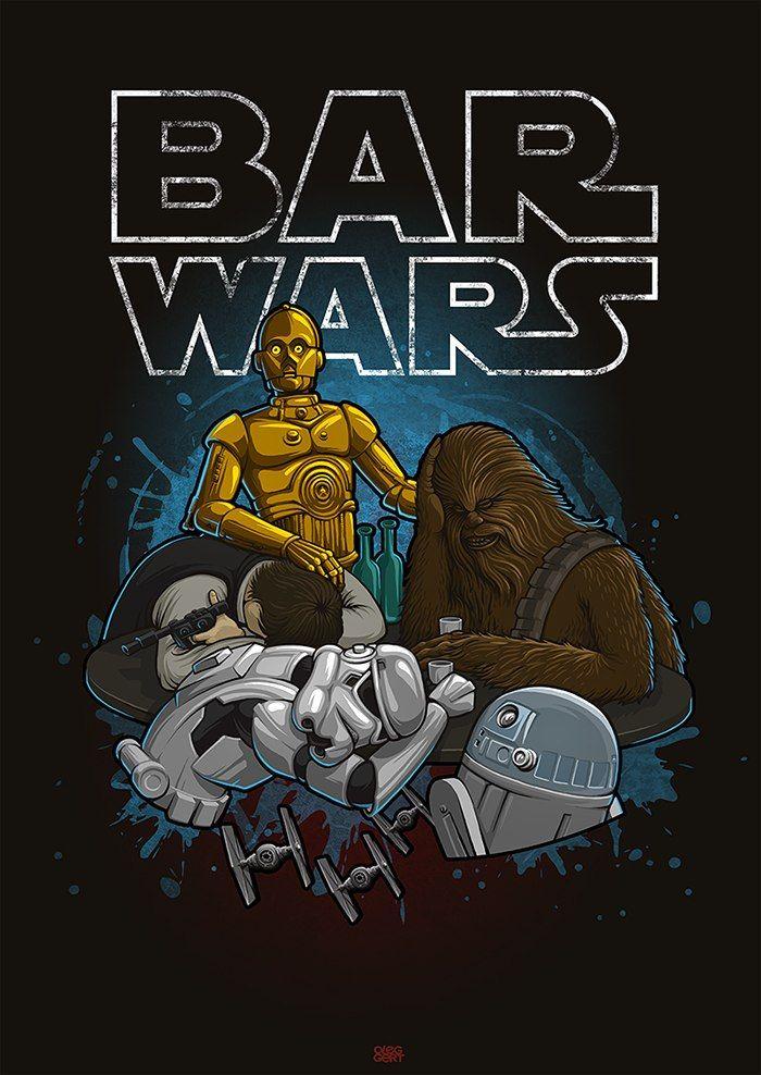 Bar Wars   By: Oleg Gert   #starwars #starwarshumor #starwarsfanart