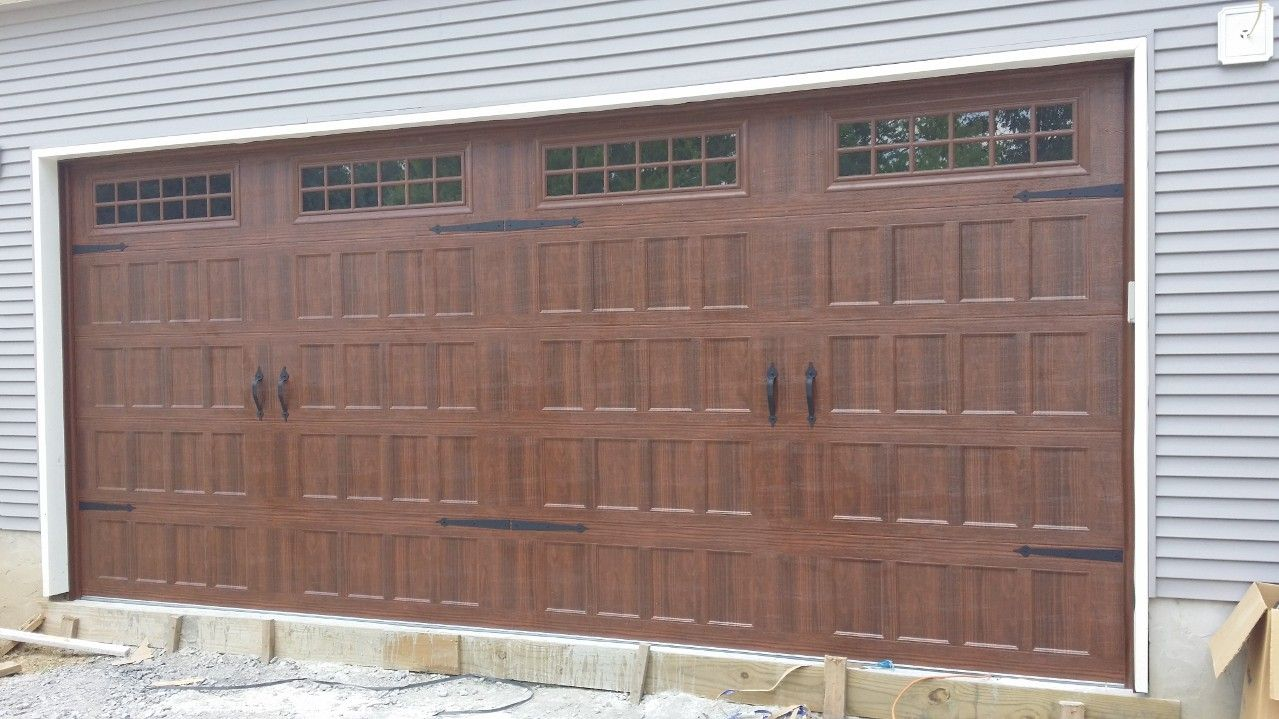 Carriage Style Garage Door. Amarru0027s Oak Summit, With Stockton Windows, In  Walnut
