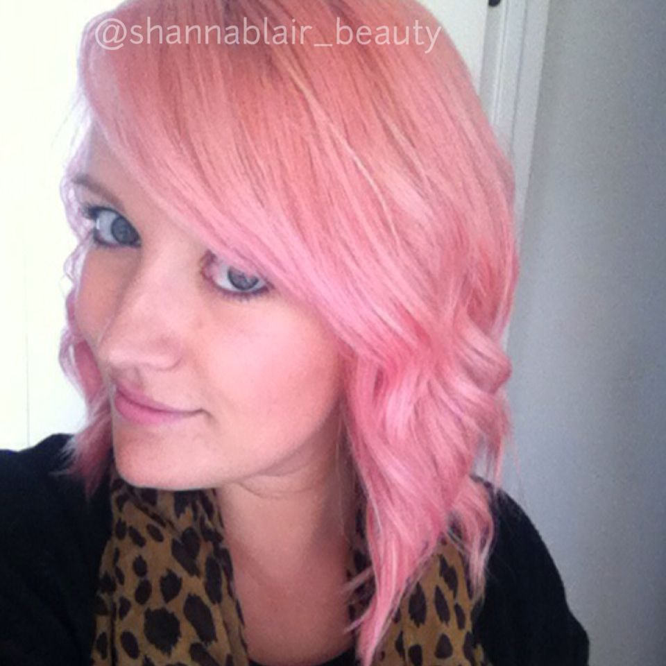 Joico hair color tags color jocio joico - Instagram Shannablair_beauty Pastel Pink Peach Hair Used Joico Color Intensity Clear