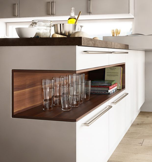 Modern Kitchen Cabinets with Goldreif, by Poggenpohl Nische - brillante kuchen ideen siematic
