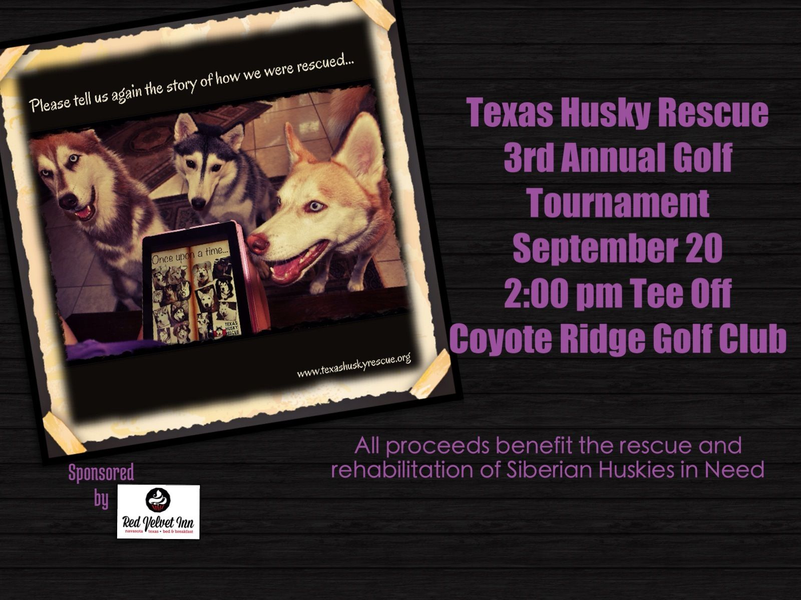 Texas Husky Rescue Golf Tournament Husky rescue, Golf