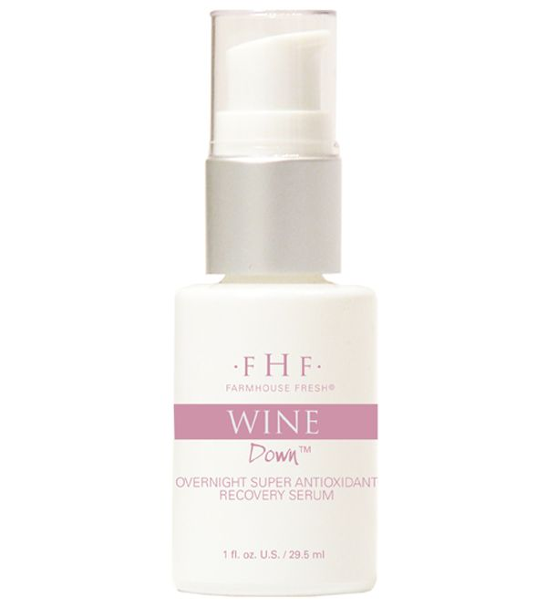 Editors Pick Farmhouse Fresh Wine Down Overnight Super Antioxidant Recovery Serum 61 Wine Down Face Serum Serum