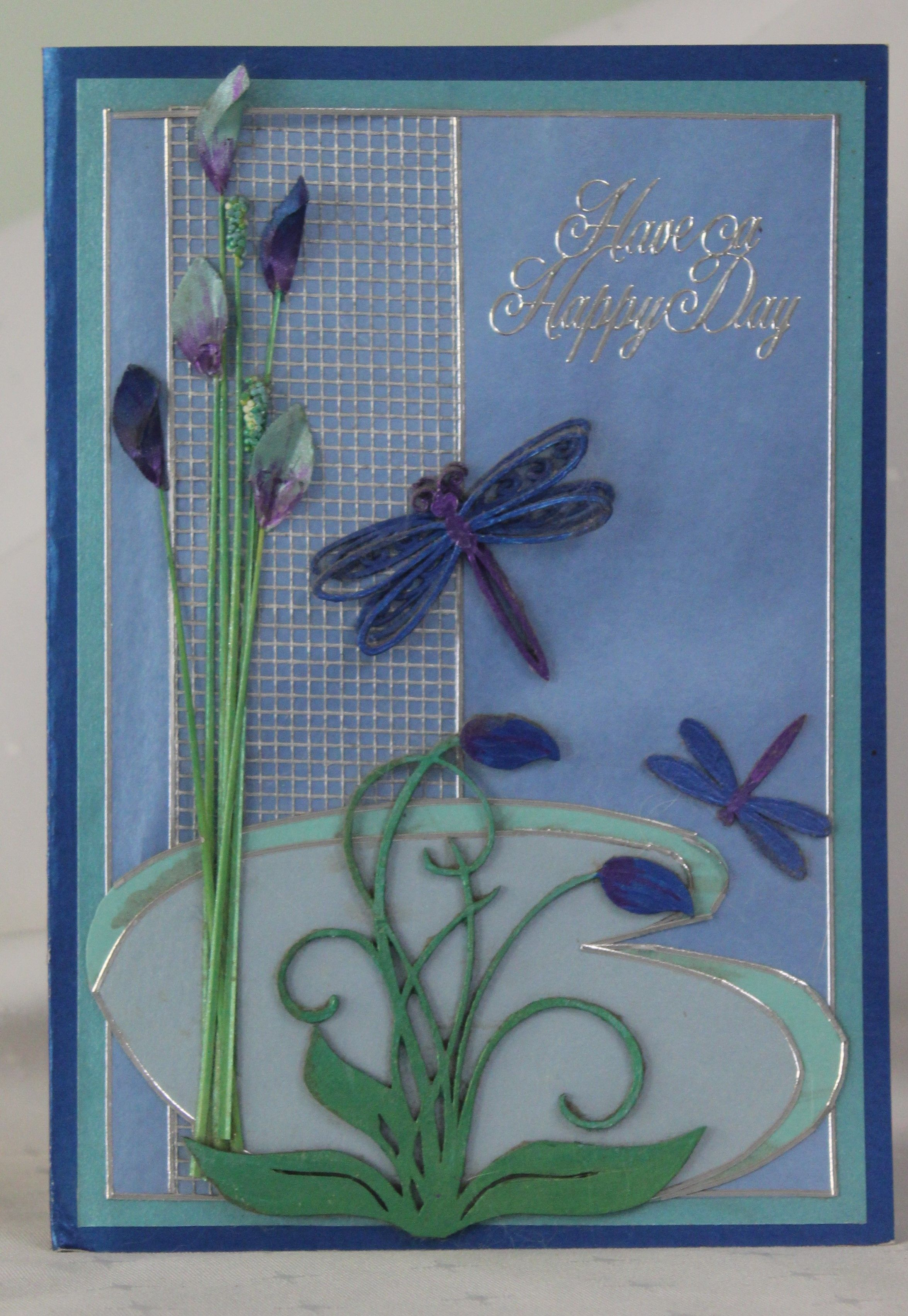 This card was made before i was using dies Cheryl Newby