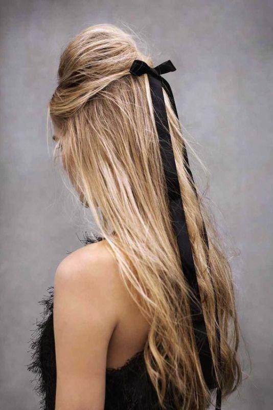 #hairstyles #long hair #blonde