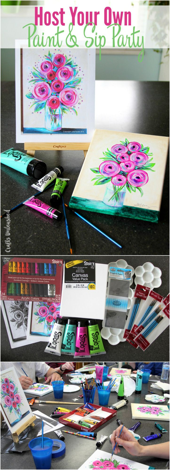 Diy Painting Party Host Your Own Paint Sip Consumer Crafts