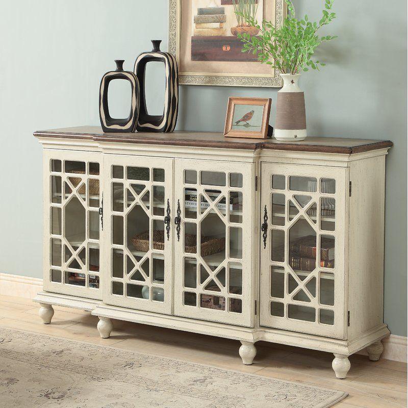 Lark Manor Mauldin Media Credenza Reviews Wayfair Traditional Dining Rooms Cabinet Decor Sideboard
