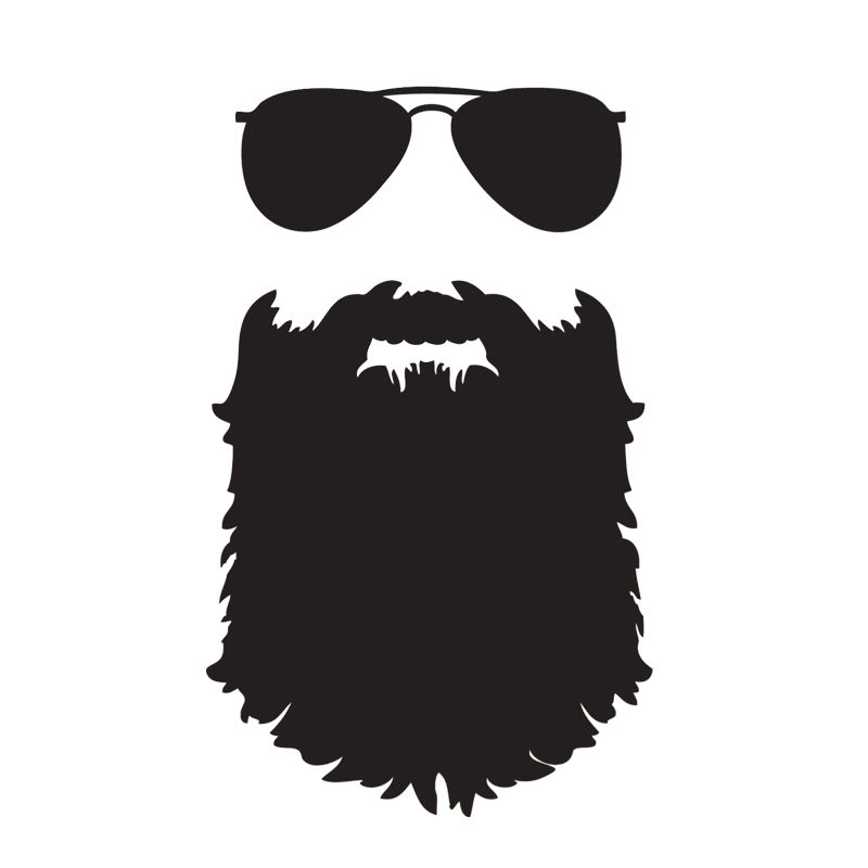 Hotmeini beard funny glasses jdm auto decal mustache hipster nerd truck bumper boat laptop vinyl decal