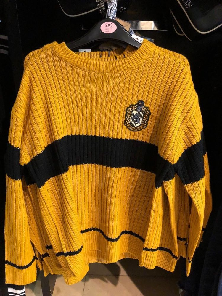 d228110a33fa Harry Potter Hufflepuff Knitted Jumper Ladies Primark in 2019 ...