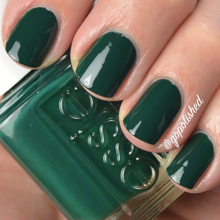 Essie Off Tropic - forest green nail polish   NAILS   Pinterest