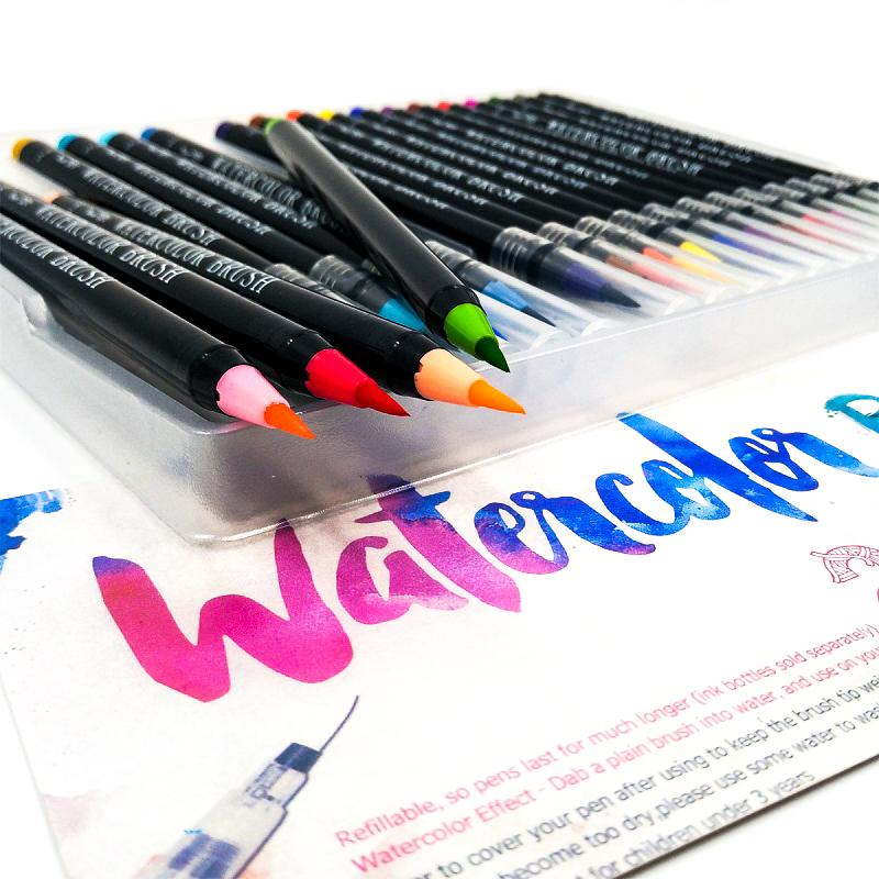 Vibrant Watercolor Brush Pen Set With Images Watercolor Brush