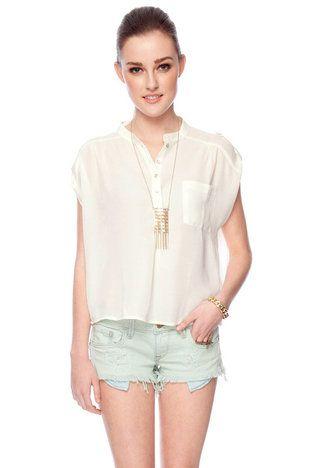 Showing Shoulders Button Down Shirt $30 at www.tobi.com