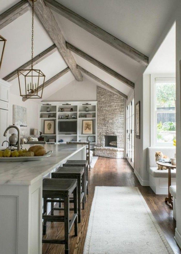 Idées Pour Aménager Une Chambre En Longueur Des - Deco salle a manger bois pour idees de deco de cuisine