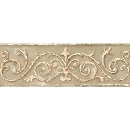 York Wallcoverings Book Arch Scroll 15 X 4 Wallpaper Border Walmart Com Wall Coverings Brown And Cream Wallpaper York Wallpaper