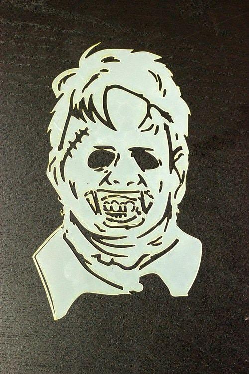 Leatherface texas chainsaw massacre airbrush stencil