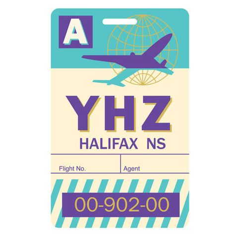 Luggage Tag Halifax, Nova Scotia YHZ Visual design