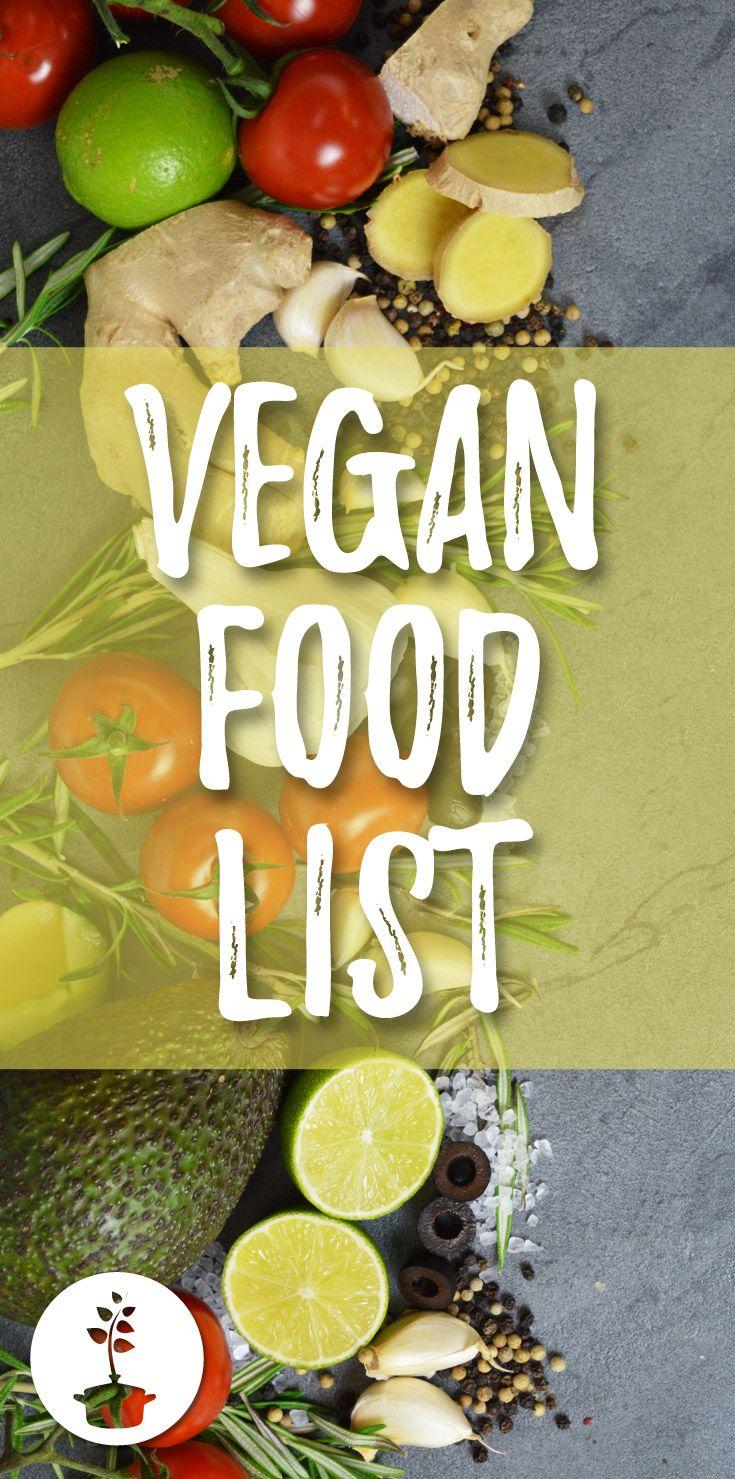 Vegan food list (+ free printable PDF Vegan food list
