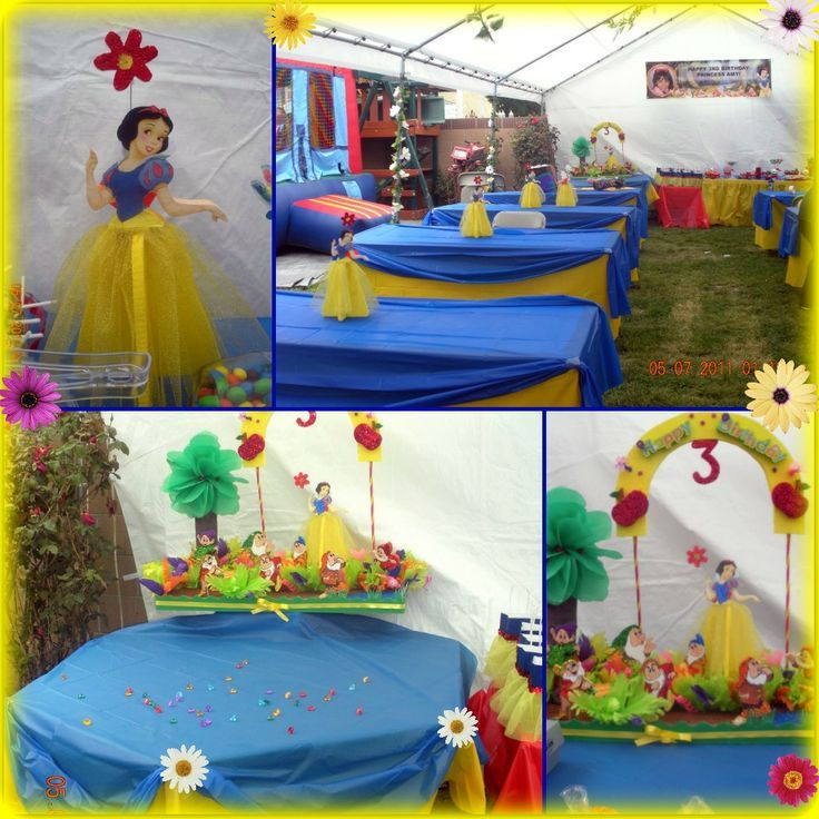 Snow white birthday party decorations creations you