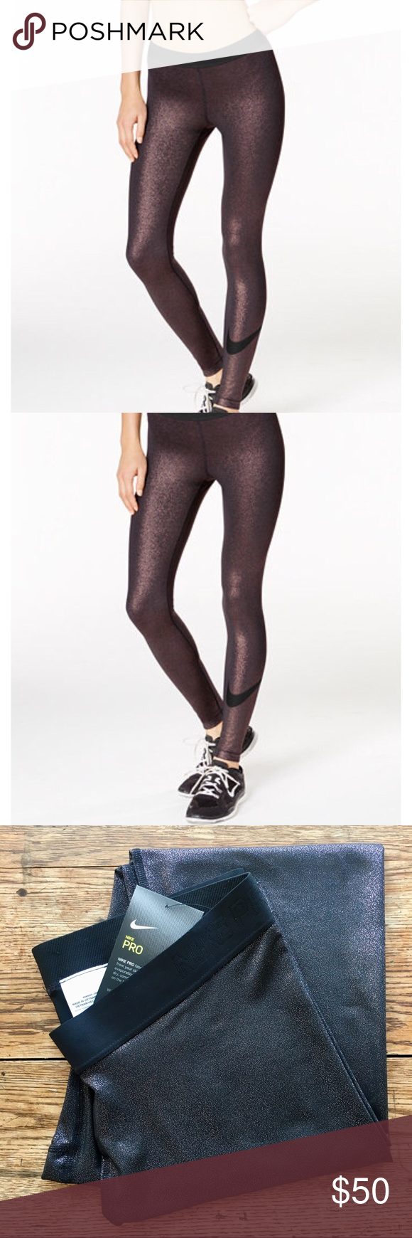 0b5440d1954ab Nike—Pro Cool Sparkle Dri-Fit Leggings Tights NWT. color: rose gold.  sparkly! perfect for everything—offers always welcome! Nike Pants Leggings