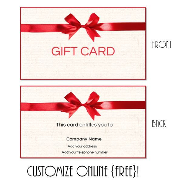 Free printable gift card templates that can be customized online - homemade gift vouchers templates