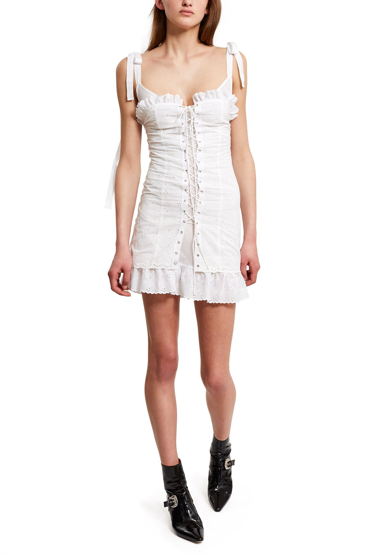 Daisy Broderie Lace Up Corset Dress From Their 2016 Human Emotion Collection Stylist Outfit Corset Dress Stunning Outfits [ 1800 x 1200 Pixel ]