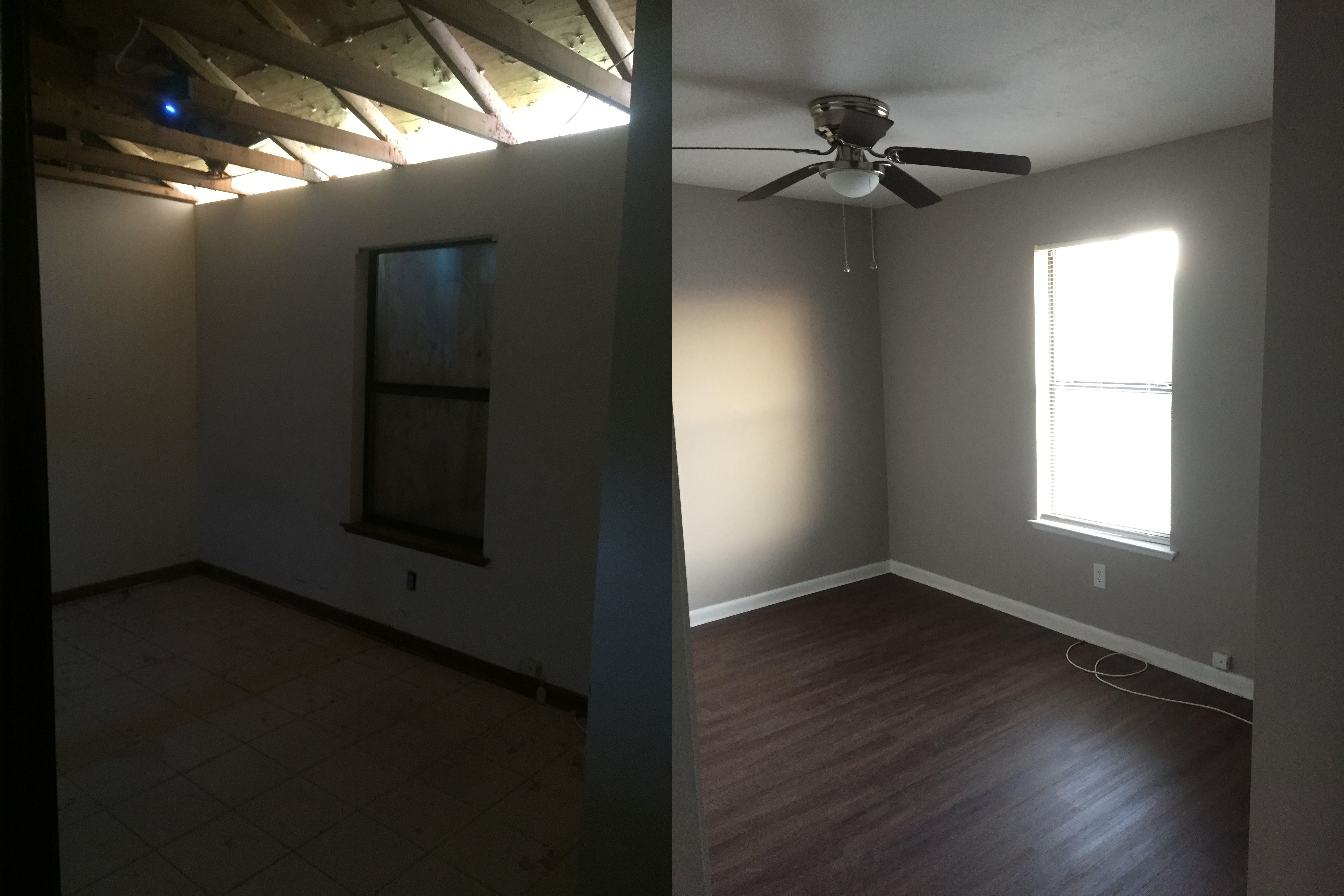 Updates Include Replaced Repaired Drywall Ceiling Which Was Then Textured And Painted New Ceiling Vent Vinyl Plank Flooring Blinds For Windows Ceiling Vents