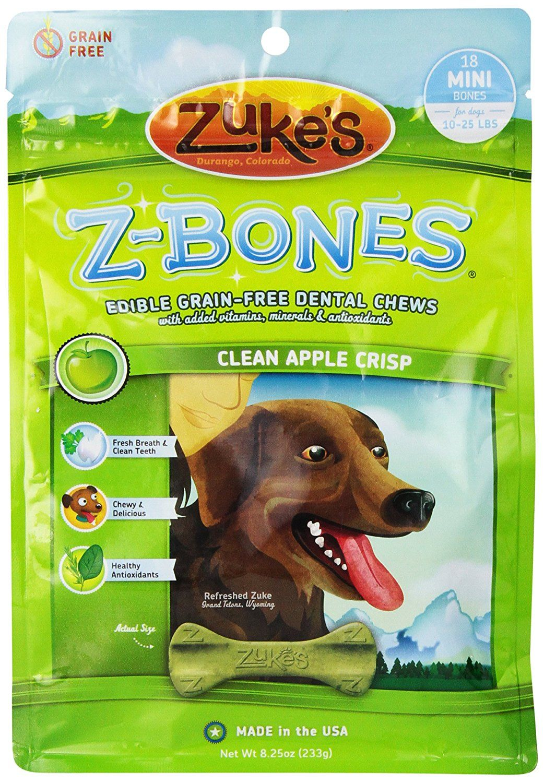 Zukes ZBone Apple Edible Dental Dog Chew Startling