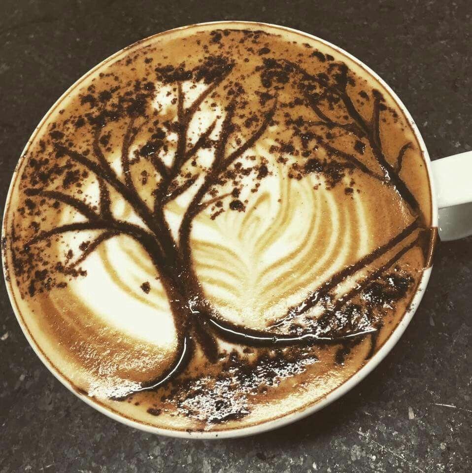 добраться рисунки из пенки кофе того, что