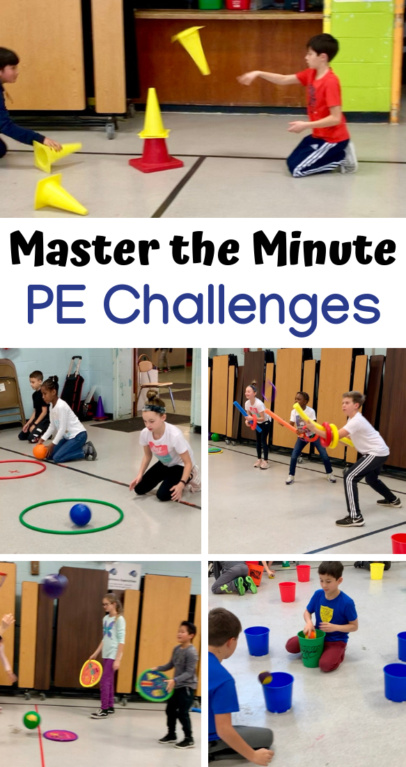 Master The Minute Challenges For Physed S S Blog Gym Games For Kids Physical Education Activities Physical Education Lessons