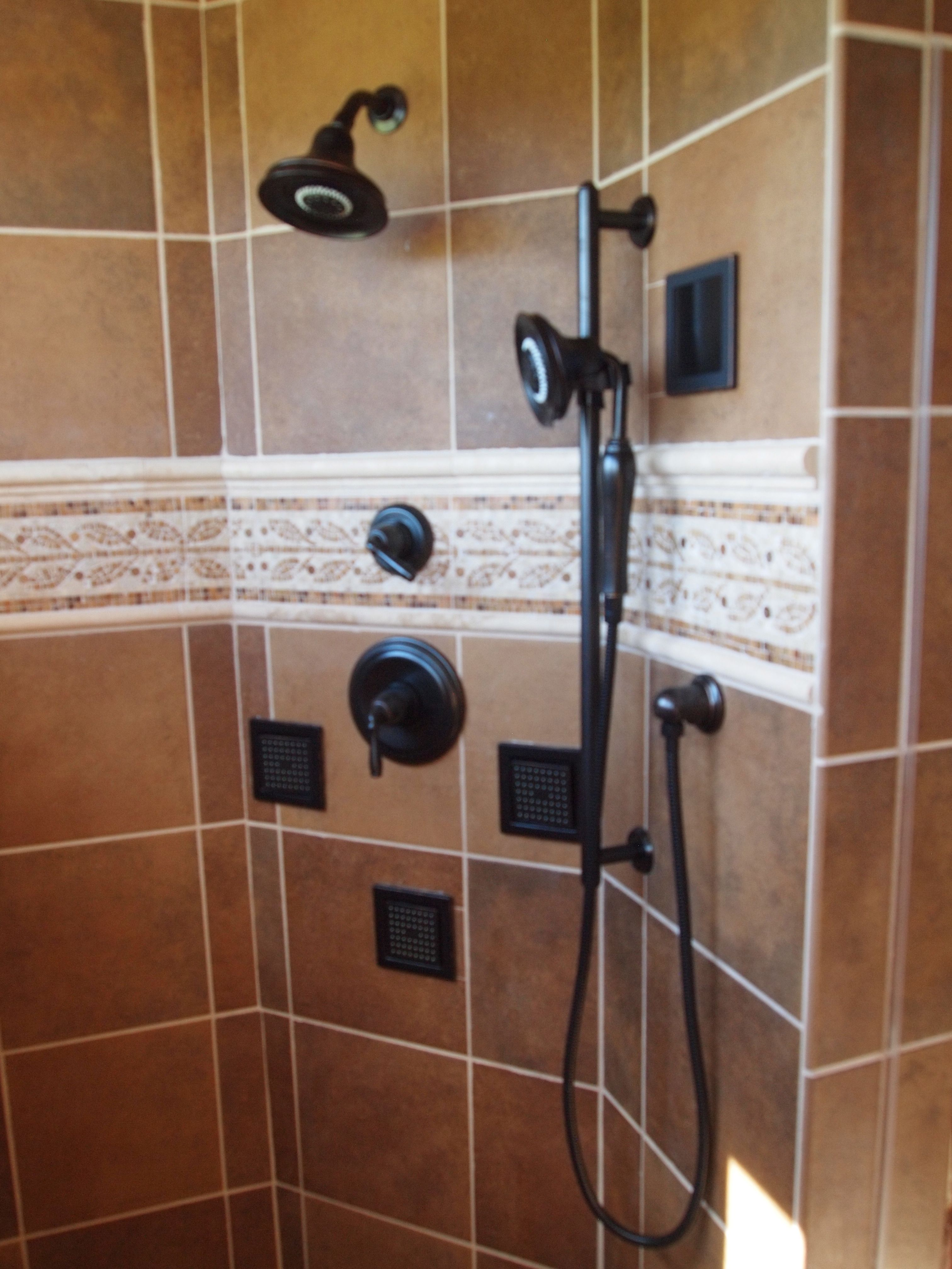 Her Side Of The Shower. Complete With Body Sprays, Hand