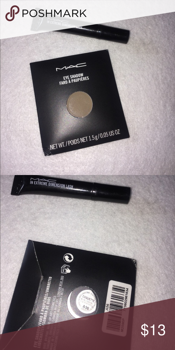Mac EyeShadow Refill Coquette & Mascara Brand new!! Mascara is sample size MAC Cosmetics Makeup Eyeshadow