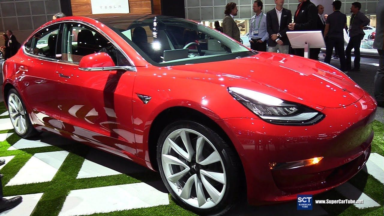 2018 tesla model 3 exterior walkaround 2017 los angeles auto rh pinterest com