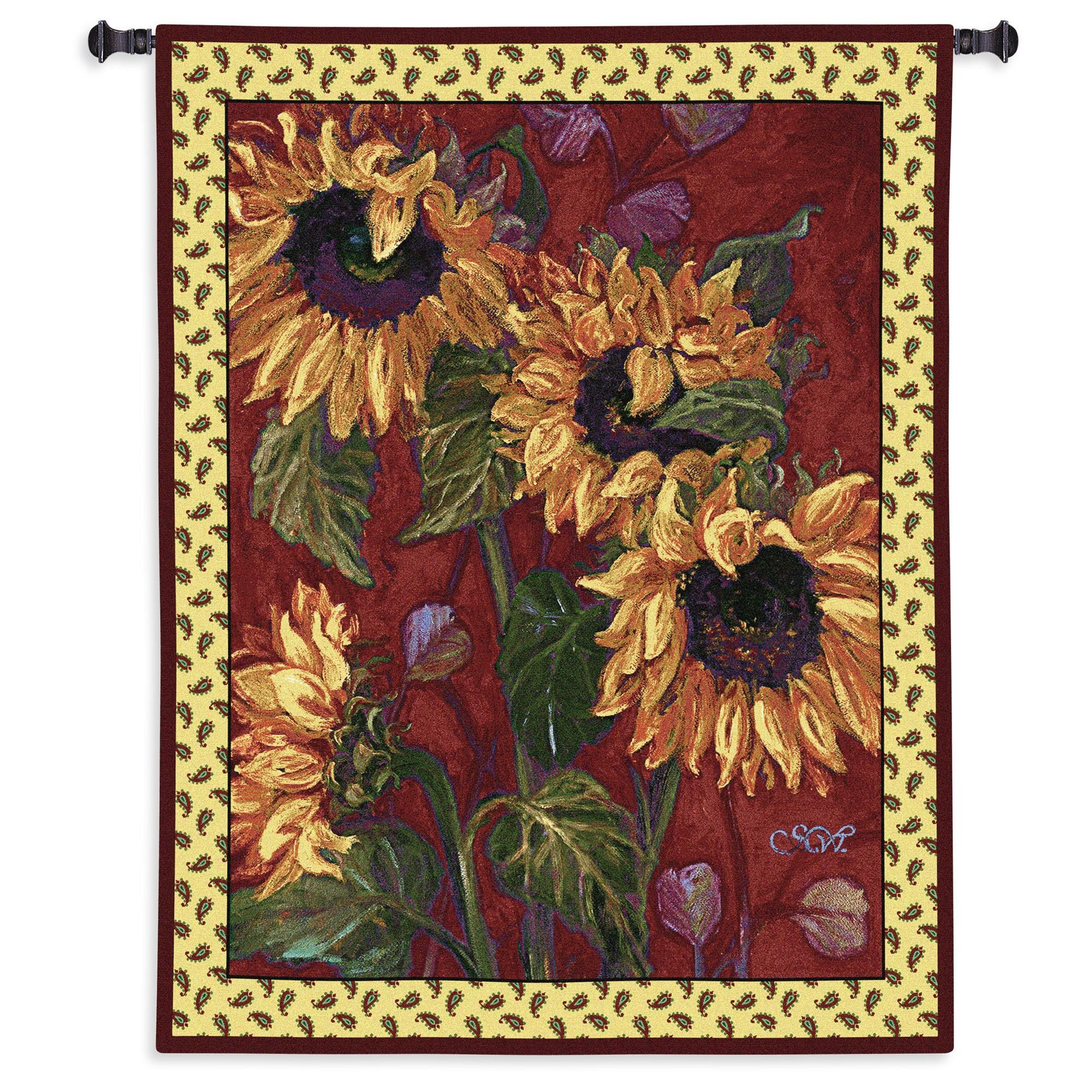 French Sunflower Wall Tapestry