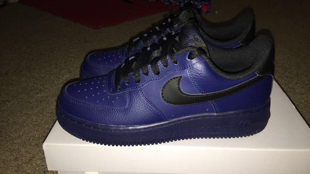 Nike Air Force 1 Sneakers Mens Size 7.5 Navy BlueBlack