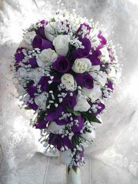 Pin By Sonya Zackery On Crafts Purple Wedding Bouquets Wedding