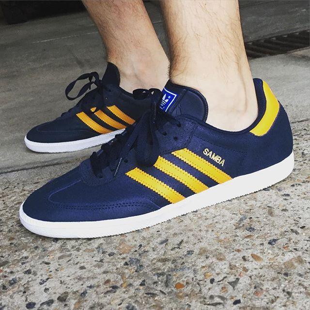 677bc4e6ac5c adidas Originals Samba  Blue Yellow   Shoes   Adidas, Sneakers ...